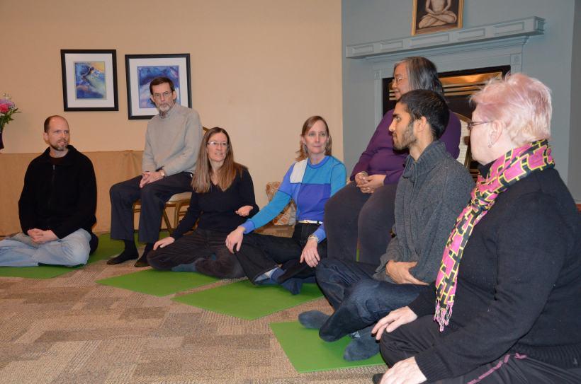 Meditation circle with Anna